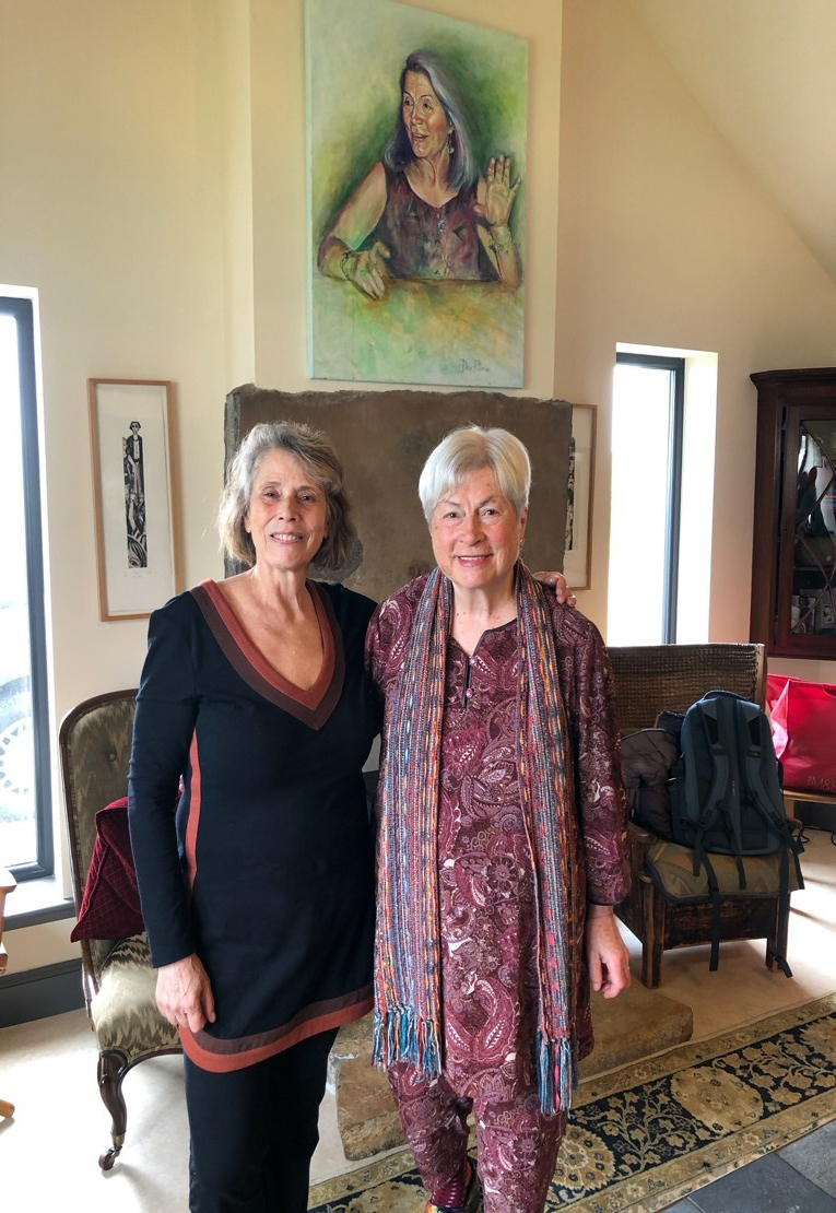 Judith Shahn with Kristin Linklater in Orkney, 2019