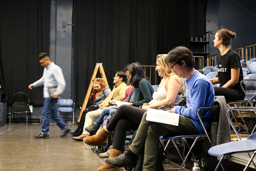 Students in Advanced Acting class