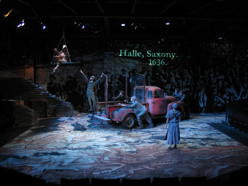 """Production photo from """"Mother Courage and Her Children."""""""