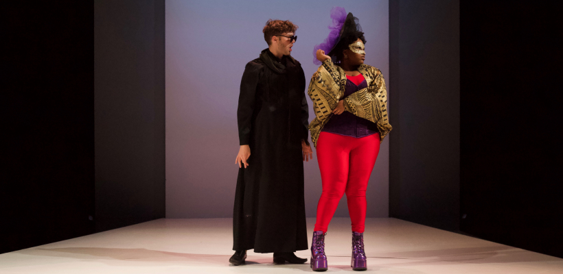 Taylor Jones and Allyson Lee Brown in Angels in America Part II: Perestroika