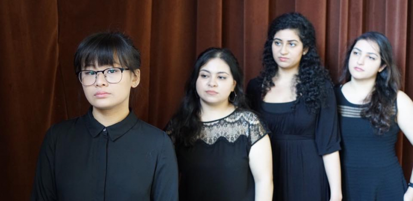 Trinh Nguyen, Vanessa Nourozi, Ruchi Loomba in Rainbows in a Dark Sky, Written and Directed by Katrin Hosseini