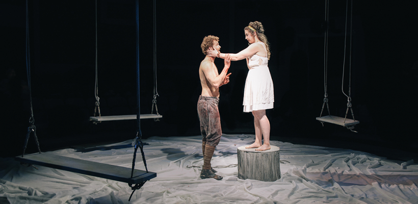 Skye Edwards and Tamsen Glaser in Iphigenia and Other Daughters