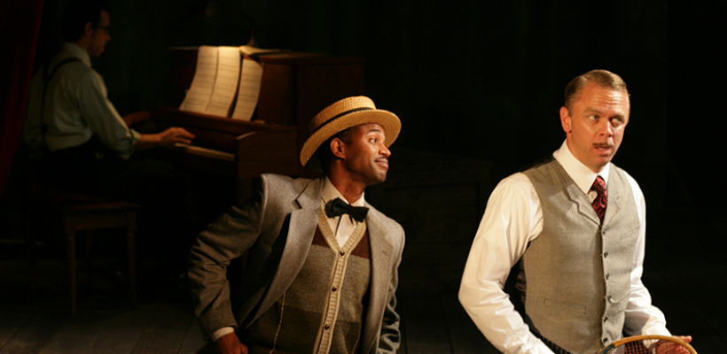 Jose Gonzales, AJ Friday, and Jeffrey Fracé in The Cradle Will Rock / Photo by Mike Hipple