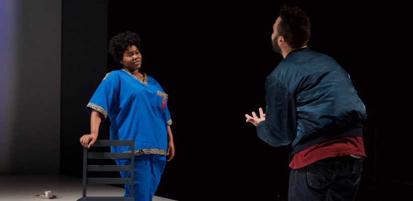 Allyson Lee Brown as Belize and Phillip Ray Guevara as Louis in Angels in America Part II: Perestroika / Photo by Kyler Martin