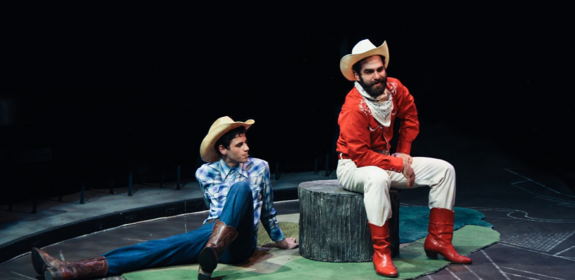 Phillip Ray Guevara and Michael Monicatti in As You Like It