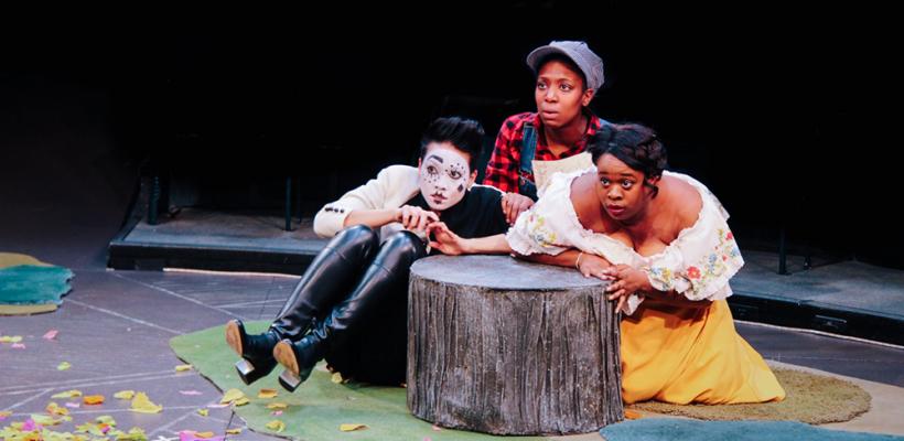 Hazel Lozano, Porscha Shaw, and Bria Henderson in As You Like It