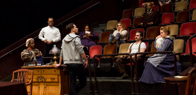 The cast of Rutherford and Son receives notes during rehearsal | Photo by Kyler Martin