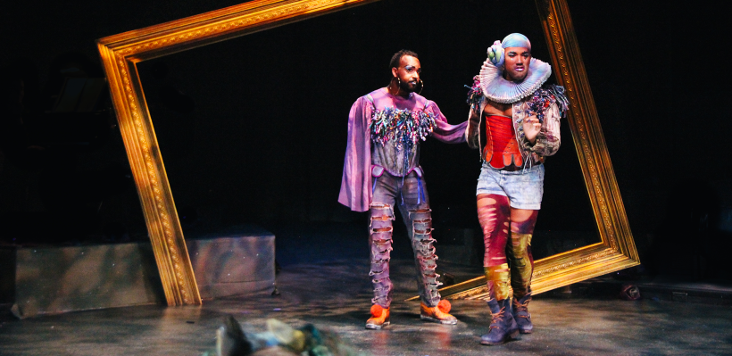 André Brown as R and Semaj Miller as G in 12 Ophelias (a play with broken songs) / Photo by Isabel Le