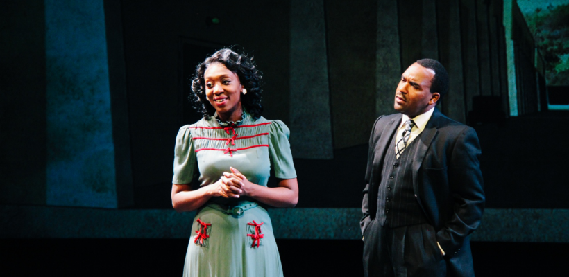 Porscha Shaw as Vera Stark and André Brown as Leroy Barksdale in By the Way, Meet Vera Stark / Photo by Isabel Le