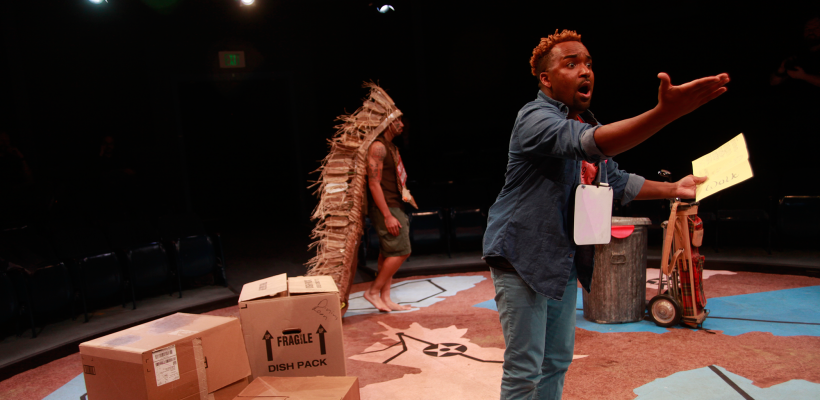 André Brown as Kelly in The Walk Across America for Mother Earth / Photo by Mike Hipple