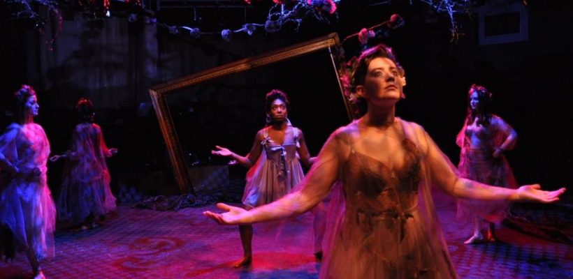 Porscha Shaw and Gabi Boettner in 12 Ophelias a play with broken songs