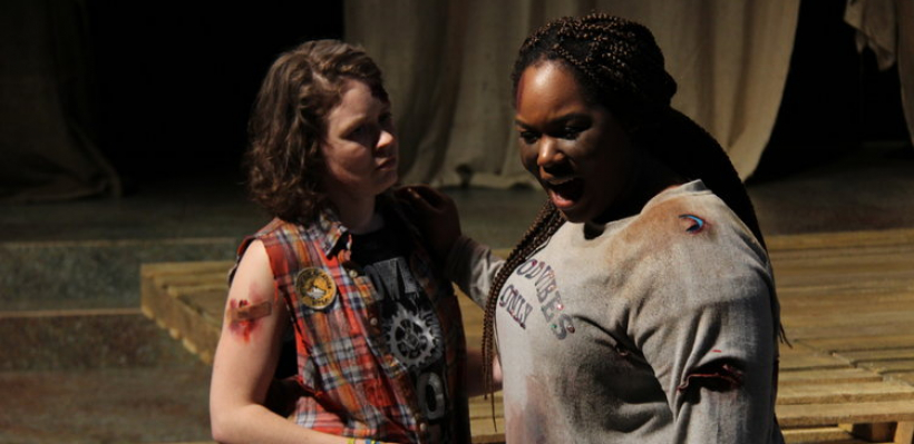 Jessica Thorne and Allyson Lee Brown in Trojan Women: A Love Story / Photo by Isabel Le