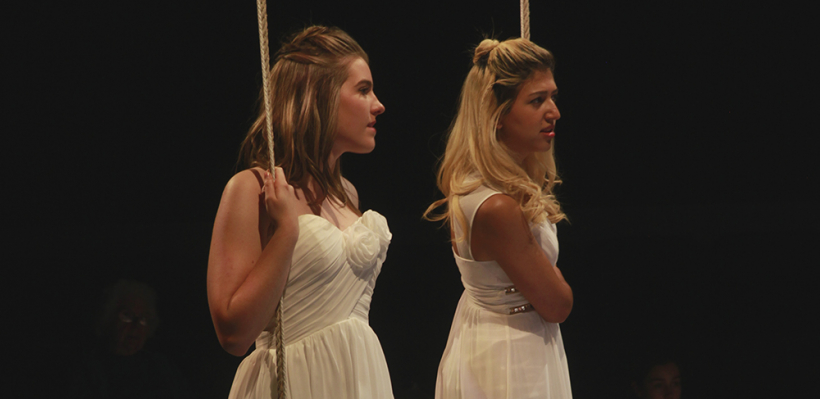 Lindsey Crocker and Katrin Hosseini in Iphigenia and Other Daughters