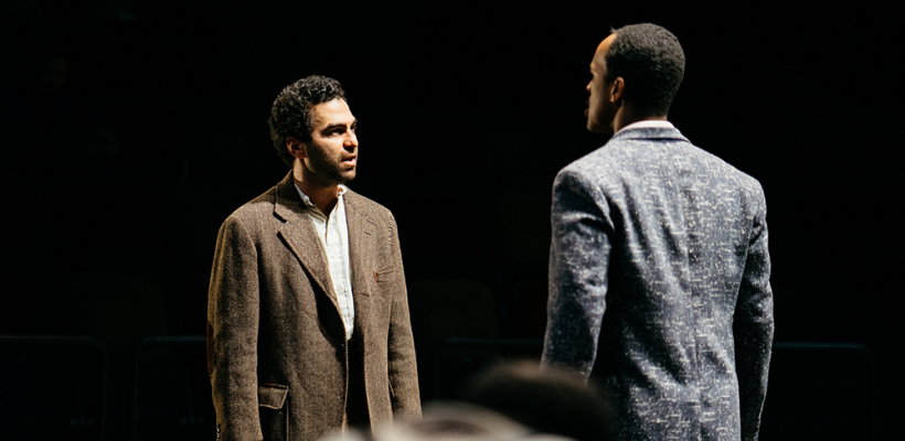 Phillip Ray Guevara as Leduc and Semaj Miller as Monceau in Incident at Vichy / Photo by Logan Guerrero