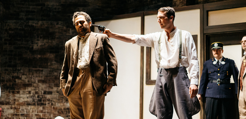 Phillip Ray Guevara as Leduc and Dylan Smith as Major in Incident at Vichy / Photo by Logan Guerrero