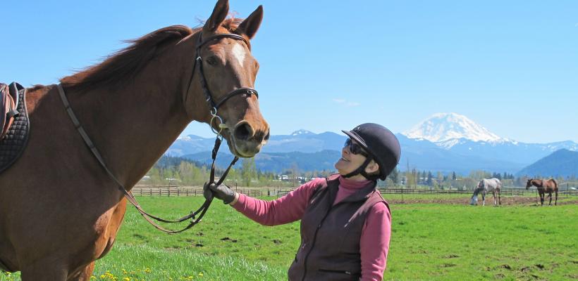 Sarah Nash Gates & her horse, Pizazz