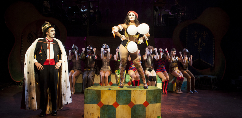 "Two actors appear in the musical ""Pippin"""