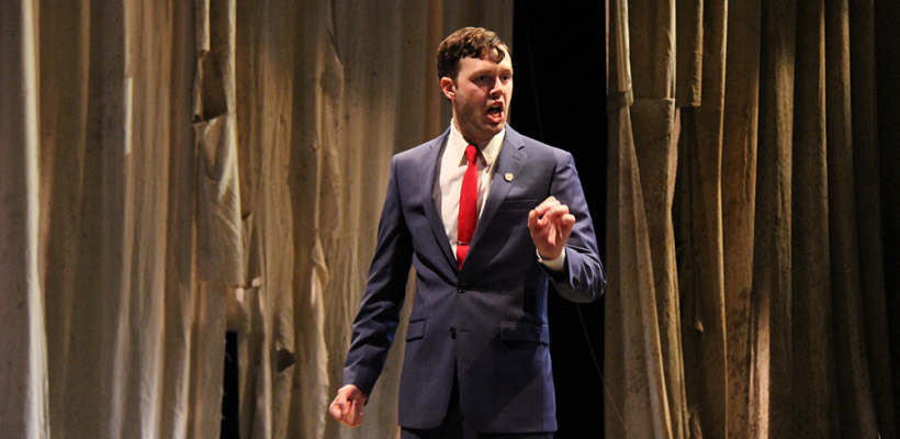 Taylor Jones as Talthybius in Trojan Women: A Love Story / Photo by Isabel Le