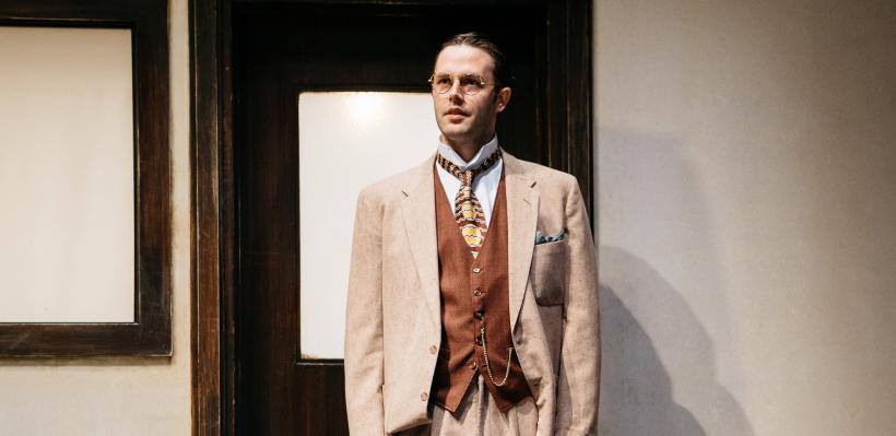 Taylor Jones as Professor Hoffman in Incident at Vichy / Photo by Logan Guerrero