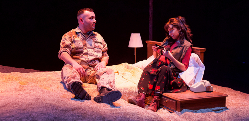 Adrian Tafesh and Tricia Castañeda-Gonzales in IN THE HEART OF AMERICA / Photo by Kyler Martin
