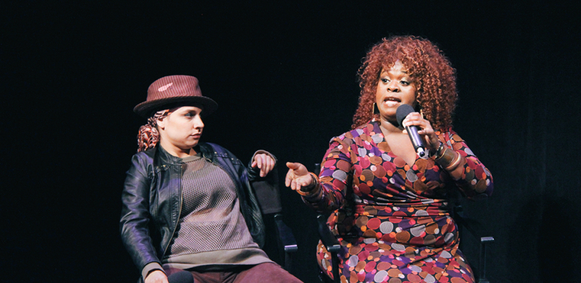 Tricia Castañeda-Gonzales and Bria Henderson in BY THE WAY, MEET VERA STARK / Photo by Isabel Le