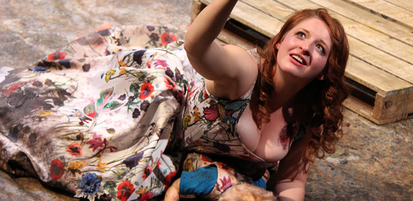 Alyssa Franks in Trojan Women: A Love Story / Costume Design by Emily Woods Hogue / Photo by Isabel Le