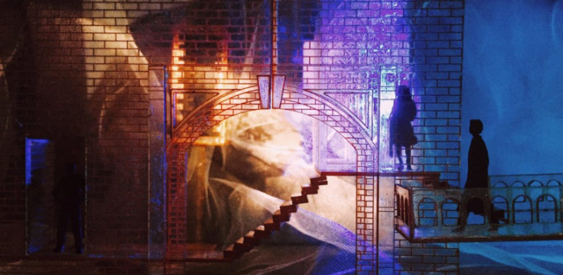 Model for Twelfth Night scenic design by Isabel Le / Photo by Isabel Le