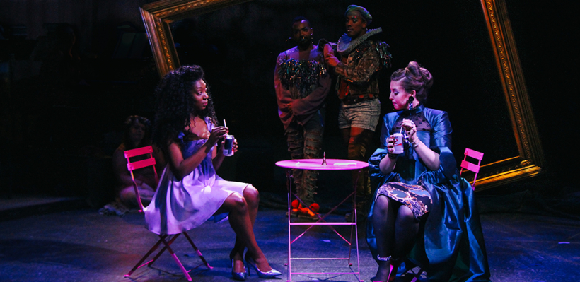 Porscha Shaw, André Brown, Semaj Miller, and Tamsen Glaser in 12 Ophelias a play with broken songs