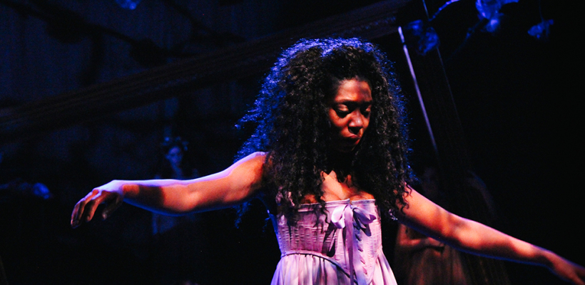 Porscha Shaw in 12 Ophelias a play with broken songs