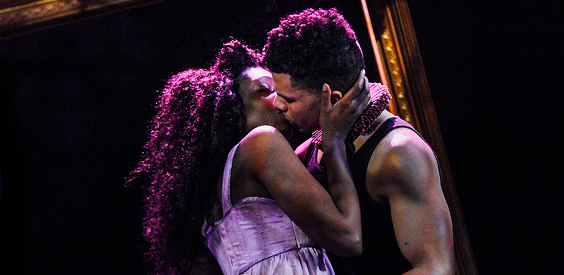 Porscha Shaw and Xavier Bleuel in 12 Ophelias a play with broken songs