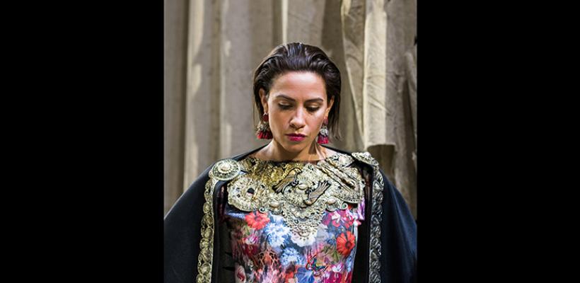 Bridget McKevitt in Trojan Women: A Love Story / Costume Design by Emily Woods Hogue / Photo by Robert Wade