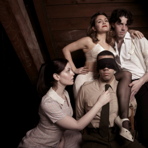 Rebekah Patti, Christen Gee, Colton Sullivan, and Rudy Roushdi in 'The Hostage' (Photo: Mike Hipple)