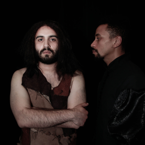 Adrian Tafesh as Segismundo and Allen Miller as Clotaldo. Photo by Mike Hipple.