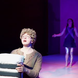Alyssa Franks and Brandon Pascal in Angels in America Part II: Perestroika \ Photo by Kyler Martin