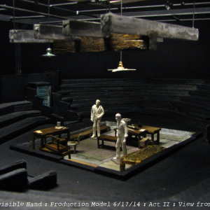 Production model: The Invisible Hand. Scenic design by Matthew Smucker, assisted by Julia Welch.