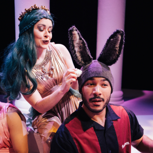 Jessica Thorne and Andrés Rodriguez in A Midsummer Night's Dream \ Photo by Logan Guerrero
