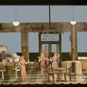 set design for Come Back to the Five and Dime, Jimmy Dean, Jimmy Dean