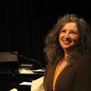 Ki Gottberg, directing her play 'The Last Salmon' at The Merc Playhouse. Photo by Claire Waichler.