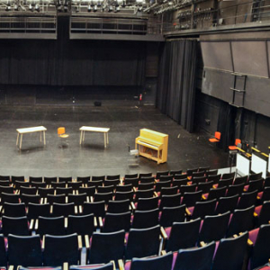 Center stage of Meany Studio Theater