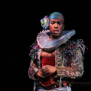 Semaj Miller in 12 Ophelias (a play with broken songs) \ Photo by Isabel Le