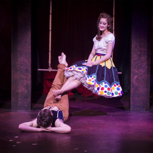 Alex Becker as Pippin and Elizabeth Moore as Catherine