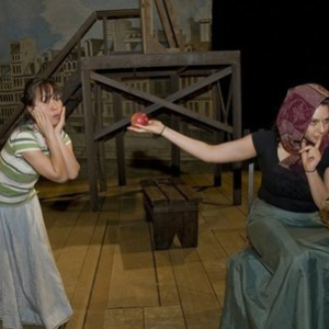 Henriette (Marissa Lichwick) begins to doubt the sincerity of La Frochard (Andrea Snow)