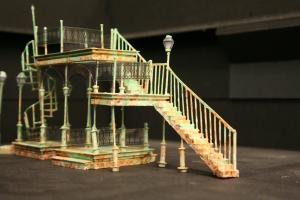 Set design model by scenic designer Julia Welch