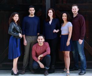 PATP Class of 2016 (l-r): Christen Gee Celaya, Rudy Roushdi, Moises Castro, Rebekah Patti, Claire Fort, Zach Virden. (Photo: Mike Hipple)