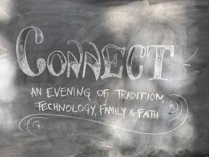 Image of Connect written on a blackboard