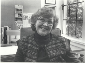Betty Comtois, former School of Drama Executive Director, in her office