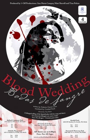 """Poster for """"Blood Wedding."""" Directed by Tina Polzin (MFA '15)."""