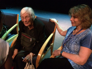 Cicely Berry and Judith Shahn at The VASTA Conference,  Royal Central School, London. August, 2014.