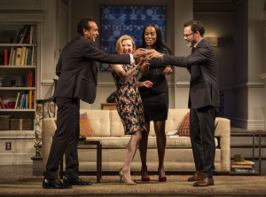 Photo of cast members in Disgraced at Seattle Rep.