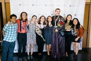 Students at Drama graduation 2019 | Photo by Logan Guerrero